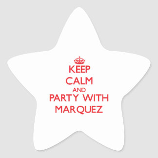 Keep calm and Party with Marquez Star Stickers