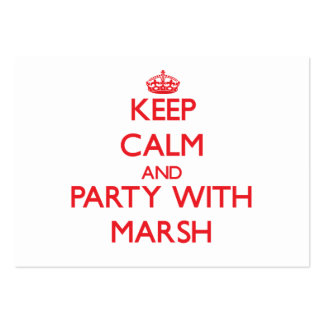 Keep calm and Party with Marsh Business Card Template