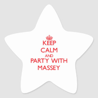 Keep calm and Party with Massey Star Sticker