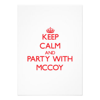 Keep calm and Party with Mccoy Announcement