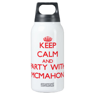 Keep calm and Party with Mcmahon 10 Oz Insulated SIGG Thermos Water Bottle