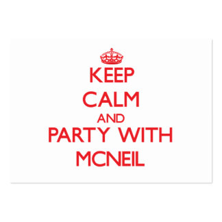 Keep calm and Party with Mcneil Business Card Template