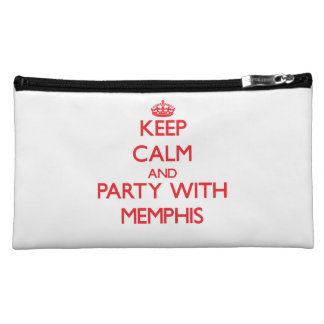 Keep calm and Party with Memphis Makeup Bags