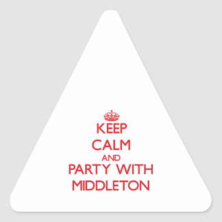 Keep calm and Party with Middleton Stickers