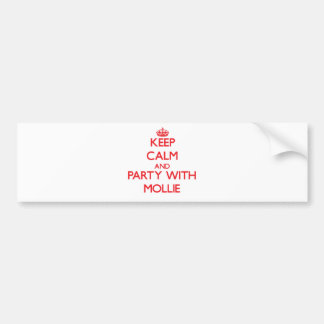 Keep Calm and Party with Mollie Car Bumper Sticker
