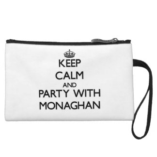 Keep calm and Party with Monaghan Wristlet Clutch