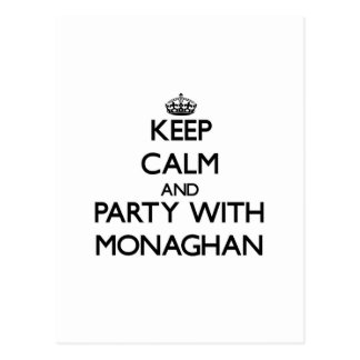 Keep calm and Party with Monaghan Postcard