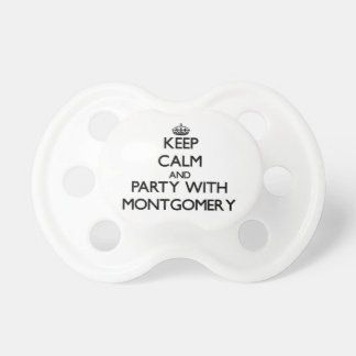 Keep calm and Party with Montgomery Pacifiers