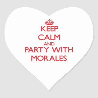 Keep calm and Party with Morales Heart Sticker