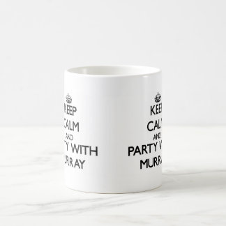 Keep calm and Party with Murray Classic White Coffee Mug