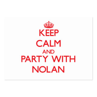 Keep calm and Party with Nolan Large Business Cards (Pack Of 100)