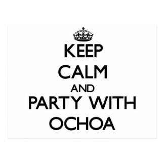 Keep calm and Party with Ochoa Postcards