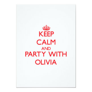 Keep Calm and Party with Olivia Custom Invites