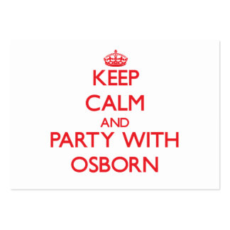 Keep calm and Party with Osborn Business Card Templates