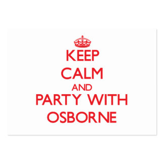 Keep calm and Party with Osborne Business Card