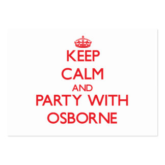 Keep calm and Party with Osborne Business Card Templates