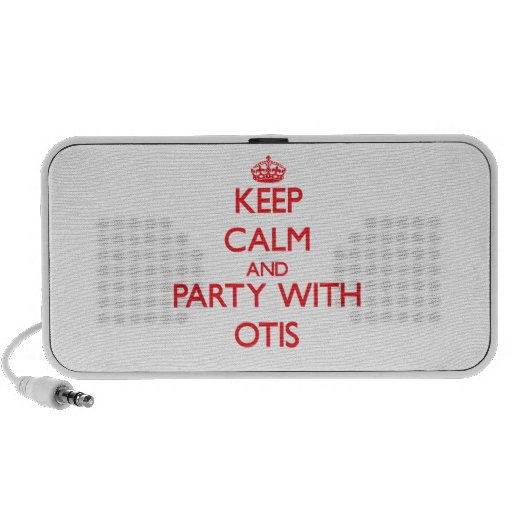 Keep calm and Party with Otis iPod Speaker