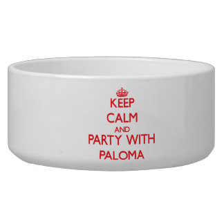 Keep Calm and Party with Paloma Dog Water Bowls