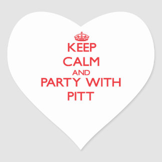 Keep calm and Party with Pitt Heart Sticker