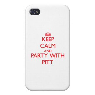 Keep calm and Party with Pitt iPhone 4 Cases
