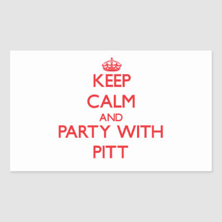 Keep calm and Party with Pitt Rectangle Stickers