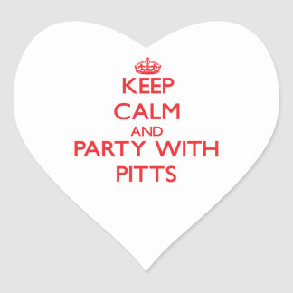 Keep calm and Party with Pitts Sticker