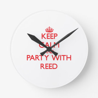 Keep calm and Party with Reed Round Wallclocks
