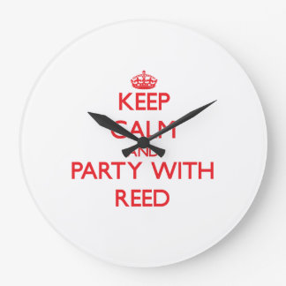 Keep calm and Party with Reed Wall Clocks