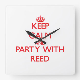 Keep calm and Party with Reed Square Wallclocks