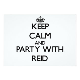 Keep calm and Party with Reid 5x7 Paper Invitation Card