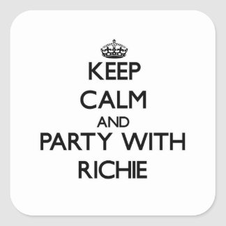 Keep calm and Party with Richie Stickers