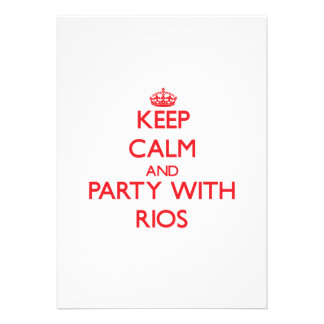 Keep calm and Party with Rios Card