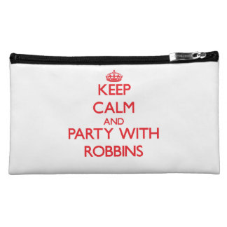 Keep calm and Party with Robbins Cosmetics Bags