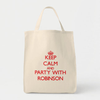 Keep calm and Party with Robinson Canvas Bag