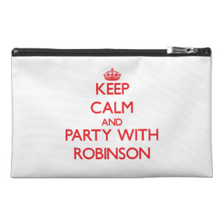Keep calm and Party with Robinson Travel Accessory Bags