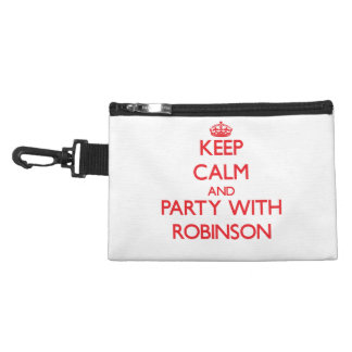 Keep calm and Party with Robinson Accessory Bags