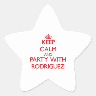 Keep calm and Party with Rodriguez Star Sticker