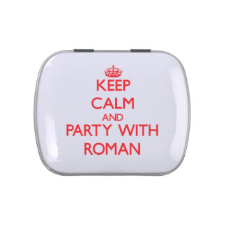 Keep calm and Party with Roman Jelly Belly Tin