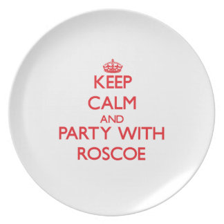 Keep calm and Party with Roscoe Dinner Plates