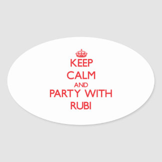 Keep Calm and Party with Rubi Stickers
