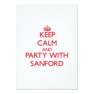Keep calm and Party with Sanford Personalized Invitation