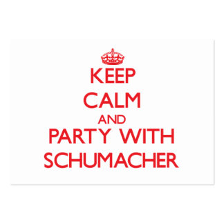 Keep calm and Party with Schumacher Large Business Cards (Pack Of 100)