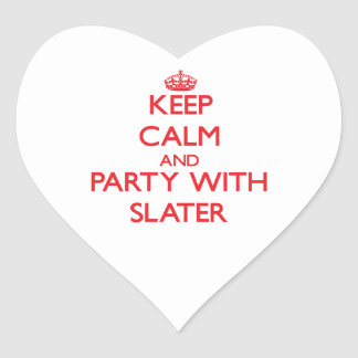 Keep calm and Party with Slater Heart Stickers