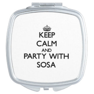 Keep calm and Party with Sosa Makeup Mirrors