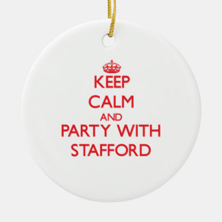 Keep calm and Party with Stafford Christmas Tree Ornament