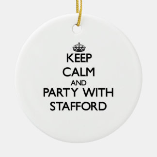 Keep calm and Party with Stafford Christmas Tree Ornaments