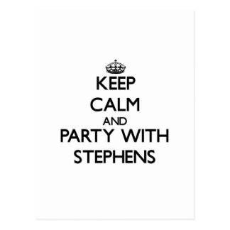 Keep calm and Party with Stephens Post Cards