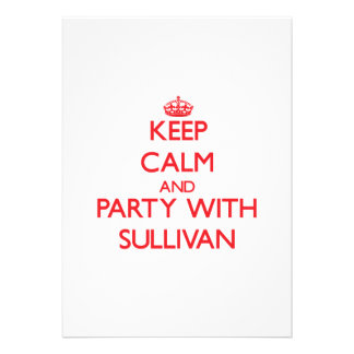 Keep calm and Party with Sullivan Personalized Invites