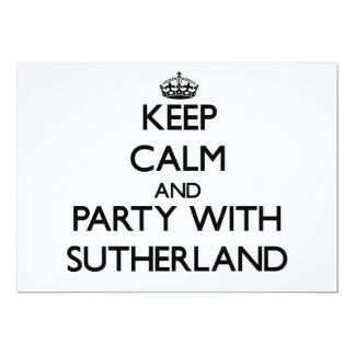 Keep calm and Party with Sutherland Card