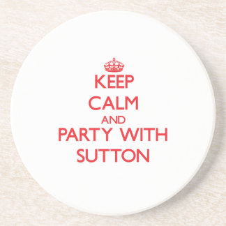 Keep calm and Party with Sutton Coasters